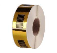 500 Modellier Schablonen Gold eckig für Gel & Acryl
