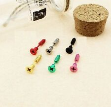 KPOP Bigbang G-dragon Screw Earring Punk Piercing Korean Ear Ring Stud  6 Colour