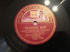 """MALCOLM SARGENT """"Les Sylphides"""" Ballet (Chopin) 78rpm 12"""" C2782 (sides 3&4) NM+"""