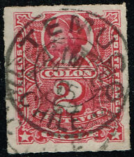 CHILE STAMP # 26 RULETEADOS CANCEL TEMUCO 1895