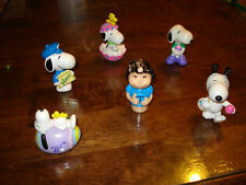 SNOOPY & FRENDS ~ LOT #3 ~ 6 SMALL FIGURES ~ EXCELLENT CONDITION ~  LQQK
