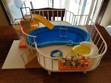 Vintage 1980 Mattel Barbie Dream Pool Playset No.1481 W/Accessories