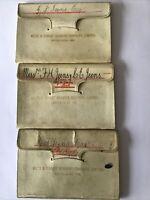 Three Antique Bank Books Wilts & Dorset Banking Co Ltd 1903-1911