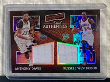 2016-17 Aficionado Dual Authentics #25 Anthony Davis / Westbrook 027/299