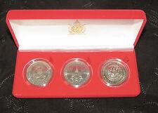 King Bhumibol Adulyadej Rama IX Thailand 100 Baht Boxed 3 Coin set Thai 1991 -