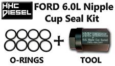 """Ford 6.0L ~HHC Diesel~ Oil Rail Rebuild Kit: 1/2"""" Drive Impact Socket & 8 Seals"""