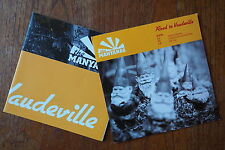 "THE MANYANAS ""Road To Vaudeville EP#1"" promo CD 'Normal Norman'+2 and poster"