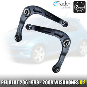 PEUGEOT 206 98-09 FRONT WISHBONES SUSPENSION ARMS PAIR L&R NS & OS WISHBONE ARM