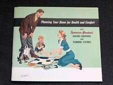Vintage American-Standard Plumbing Fixtures Catalog 1951 Bathroom Kitchen