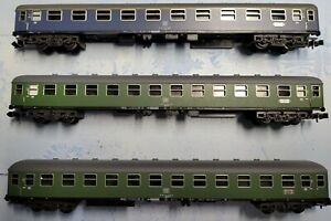 3 Minitrix DB Express Train Coaches - N Scale DB Era 4