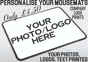 Mouse Pad Printing Your Custom Logos Personalised Photo Mouse Mats Home Office