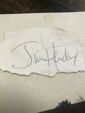 JIMI HENDRIX Autograph from Portland Oregon Show In The Late 1960's