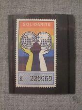 Rare Stamp Africa Haiti Solidarite Solidarity Fsm