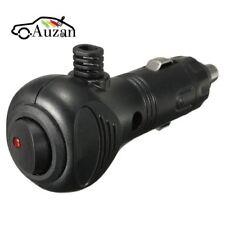 12V Male Car Cigarette Lighter Socket Plug Charger Connector LED On Off Switch