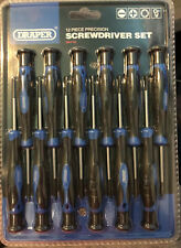 Brand New Sealed Draper 28118 Precision Screwdriver Set 12 Pieces FREE POSTAGE