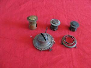 Antique  Lot Oil Lamp Burners, Kerosene Lamp Burner Parts