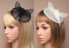 Accessoires de coiffure barrettes roses en plumes pour femme