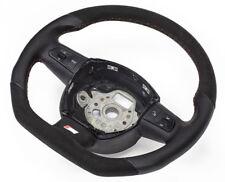 S-LINE Alcantara Flattened Steering Wheel Multifunct. Leather Black Audi A4