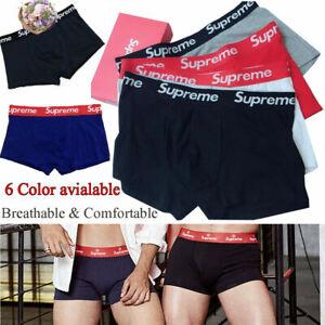 Herren Supreme 3 Stück Baumwolle Boxershorts Boxer-Shorts Komfortabel 2020