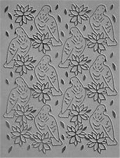 COUTURE CREATIONS CRAFT EMBOSSING FOLDER SONGBIRDS POINSETTIA CHRISTMAS CO723602