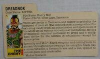 HASBRO VTG 1985 GI JOE COBRA DREADNOK RIPPER V1 ACTION FIGURE'S FILE CARD