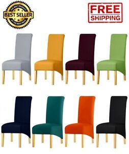 Long Back Chair Cover Spandex Fabric Decor Restaurant Hotel Party Seat Slipcover
