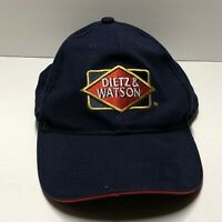 Dietz & Watson Embroidered Logo Expect Best Blue Dad Hat Baseball Cap Strapback