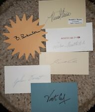 6 Inventors and Discoverers Autographs Authentic