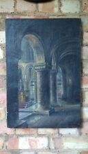 St Bartholomew-the-Great, Smithfield, Barts, City of London vintage oil painting
