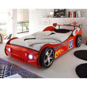 Autobett Kinderbett Jugendbett Bett Energy lackiert inkl. Beleuchtung