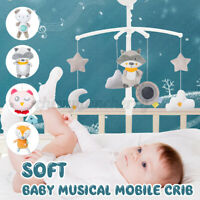 Baby Crib Mobile Bed Bell Arm Holder Wind-up Music Box DIY Toys Christmas