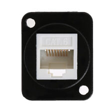 RJ45 Network Connector Metal Panel Socket D Type Mounting CAT6 CAT5E