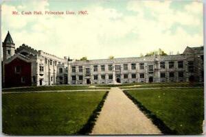 "1907 PRINCETON UNIVERSITY New Jersey Postcard ""McCosh Hall"" Campus View Unused"