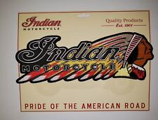 INDIAN MOTORCYCLE***LARGE BACK PATCH...Iron On...FAST FREE SHIPPING!  BEST PRICE