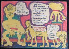 """TAILLANDIER YVON FEUTRE  SUR GRANDE ENVELOPPE KRAFT """" L'ART CONCEPTUEL"""""""