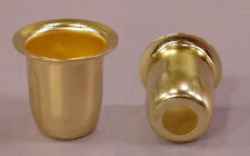 Brass Finish Metal Candle Cups For Lamp or Candle Making ~ Pack of 20