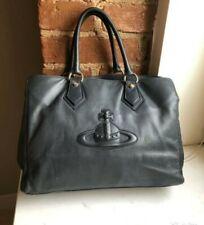 Vivienne Westwood Bag Shoulder Leather Night Blue Rare Vintage Zipper defect
