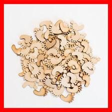 In legno Piedi Bambino Taglio Laser MDF Decorazioni In Bianco