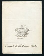 RARE ARTISTS PROOF OF THE CORONET OF THE PRINCE OF WALES LATER KING EDWARD VII