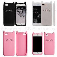 Delgado 3D Funda Carcasa Silicona gato dibujos animados Iphone 5S SE 6 6S 7 Plus