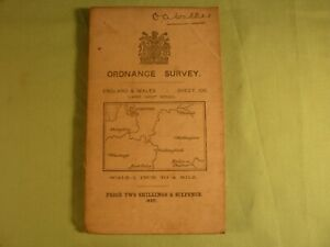 Antique Ordnance Survey Map Sheet 106 1 Inch to A Mile Oxford 1912 on Cloth