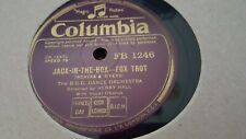 HENRY HALL & THE BBC DANCE ORCHESTRA JACK-IN-THE-BOX COLUMBIA FB1246