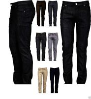 Victorious Mens Skinny Fit Jeans Raw Denim Pants Casual Stretch Trousers 938