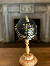 Vintage Miniature Dollhouse OOAK Artisan Hand Sculpted Medieval War Helmet Armor