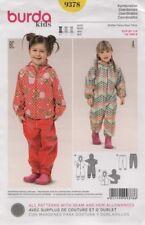 Burda Sewing Pattern 9378 Childs Toddlers Snowsuit Raincoat Size 18M-6