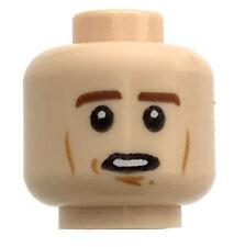 LEGO NEW LIGHT FLESH MINIFIGURE HEAD DUAL SIDED CHEEK LINES SLEEPY FACE