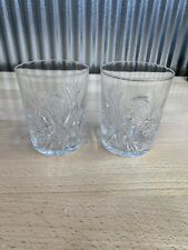 Crystal Double Old Fashioned Glasses Vintage Set of 2