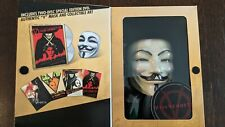 V For Vendetta (DVD, 2006, 2-Disc Set, Limited Edition) With Mask