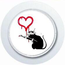BANKSY LOVE RAT TAX DISC HOLDER