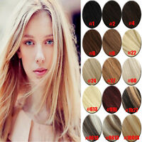 20inch 80G Hair Extensions Full Head Clip in 100% Remy Human Hair 7pcs 15 Colors